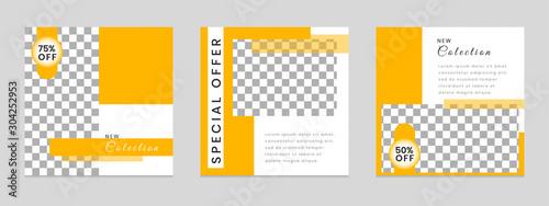 Fotografía  Editable square social network template