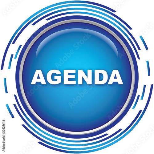 agenda icon Canvas Print