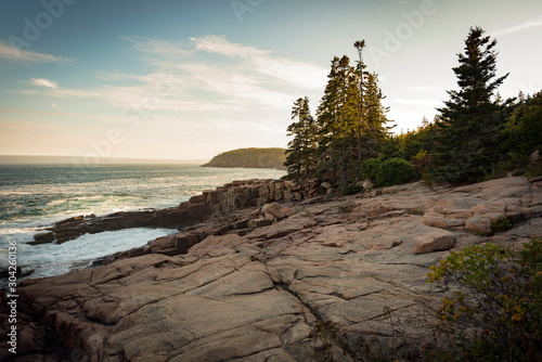 Natural landscape and seascape in Acadia National Park, Maine, USA Canvas Print
