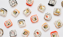 Japanese Set Rolls On White B...
