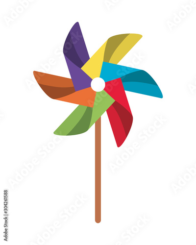 Valokuvatapetti Isolated pinwheel toy vector design