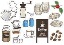 コーヒー 手描きイラスト