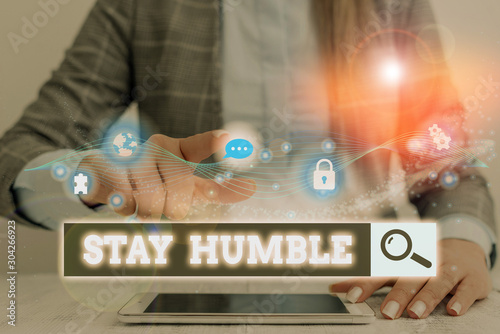 Fotografía  Conceptual hand writing showing Stay Humble