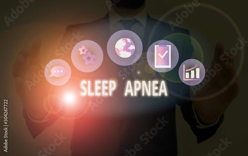 Photo Handwriting text Sleep Apnea
