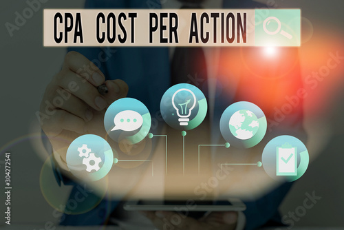 Word writing text Cpa Cost Per Action Canvas Print
