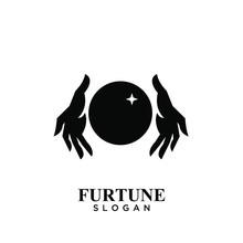 Fortune Teller Logo Icon Design Vector Illustration