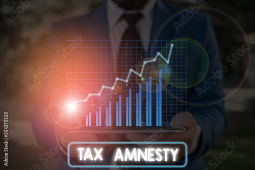 Photo Conceptual hand writing showing Tax Amnesty