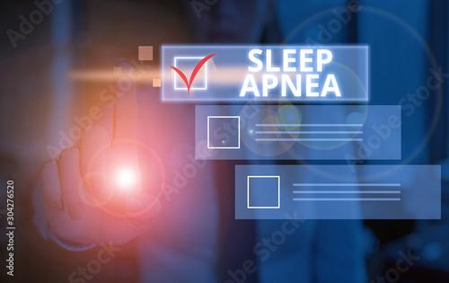 Conceptual hand writing showing Sleep Apnea Canvas Print