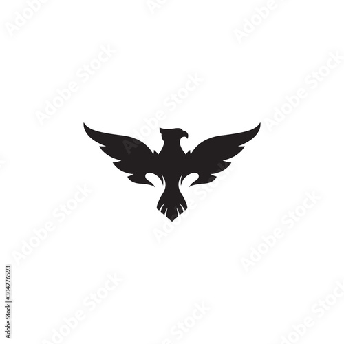phoenix vector silhouette logo template Wall mural