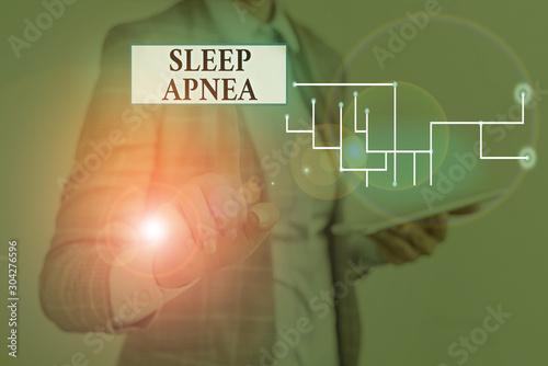 Text sign showing Sleep Apnea Wallpaper Mural