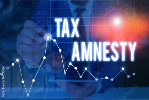 Handwriting text Tax Amnesty Wallpaper Mural