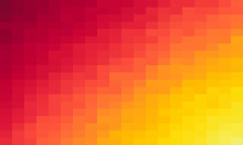 Orange Grid Mosaic Background, Creative Design Templates. Abstract Colorful Gradient Rectangles Check . Background Of Squares Different Pixel Pattern Shades.