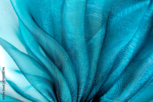 Fotografie, Obraz closeup of the wavy organza fabric