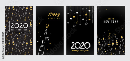 Happy New Year- 2020 Canvas Print