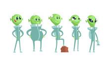 Cartoon Alien Characters Weari...