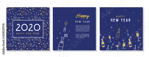 Happy New Year- 2020 Wallpaper Mural