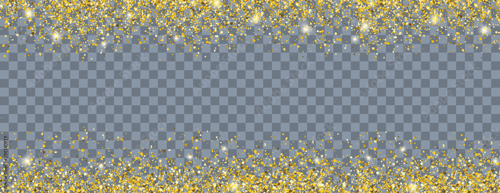 Fototapety, obrazy: Golden Sand Particles Header Transparent