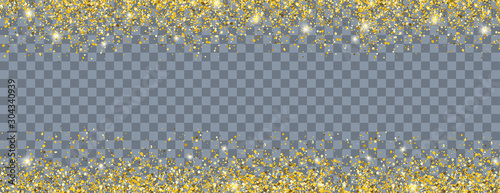 Golden Sand Particles Header Transparent - 304340939