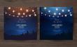 Magic night wedding lights vector design invitations