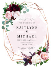 Luxury Fall Flowers Wedding Ve...