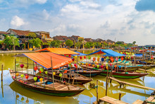 Wooden Boats On The Thu Bon Ri...