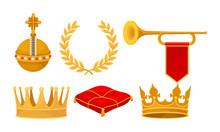 Monarchy Attributes Vector Set...
