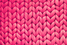 Texture Of Pink Wool Big Knit ...