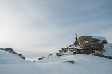Hiker In The Mountains Of Ural