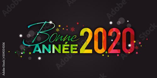Bonne Année 2020 fond noir