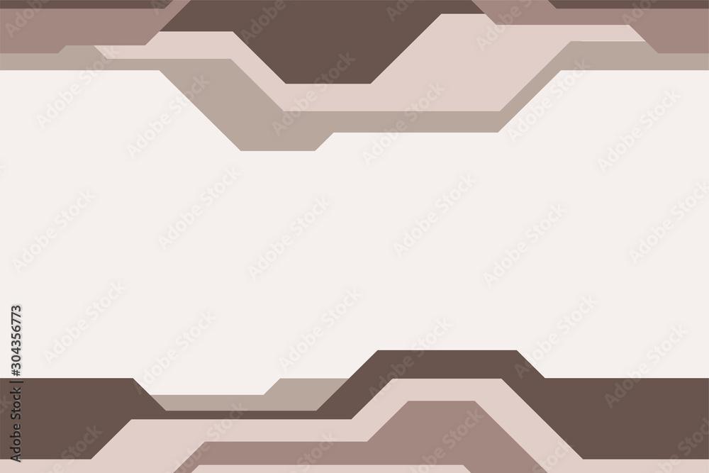 Fototapeta Seamless horizontal border pattern, isolated on light background.