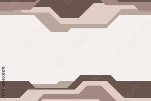 Fotografía  Seamless horizontal border pattern, isolated on light background.