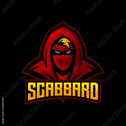 Fotografía ninja e sports logo gaming mascot, free fire avatar, apex legend mascot