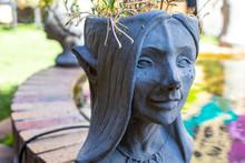 Elf Planter Statue