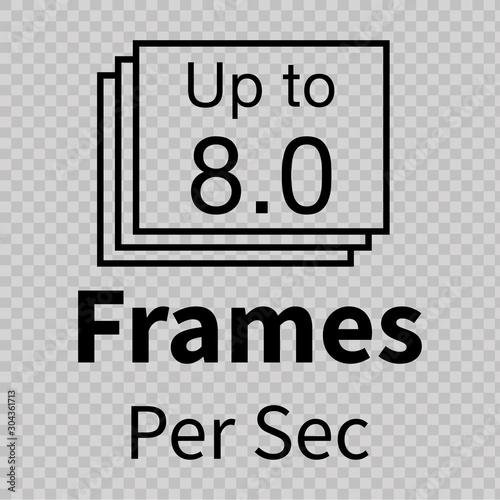 Платно Frames Per Second Icon. Vector
