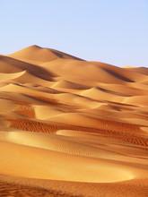 Vast Desert Scene In Liwa Dese...