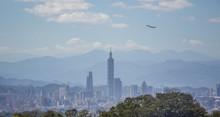 Aerial Panorama Of Taipei City...