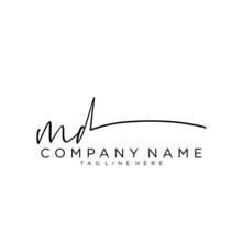 Initial Letter MD Signature Ha...