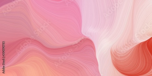 curvy background design with light coral, pastel magenta and pastel pink color