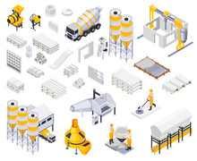 Concrete Production Icons Collection