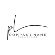 Initial Letter PL Signature Ha...