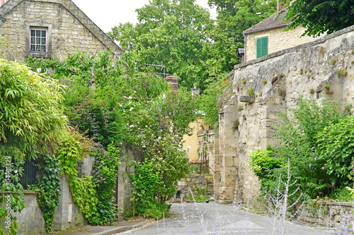 Auvers sur Oise; France - july 26 2019 : old village Canvas Print