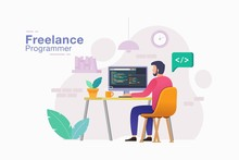 Freelancer Programmer. Men Fr...