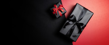Black Gift Box With Black Ribb...