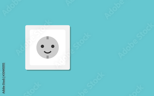 Canvastavla Smiling electric wall outlet