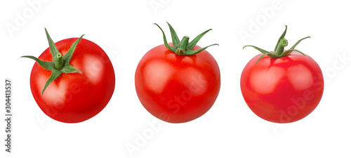 Fototapeta Tomato isolated on white background with clipping path obraz