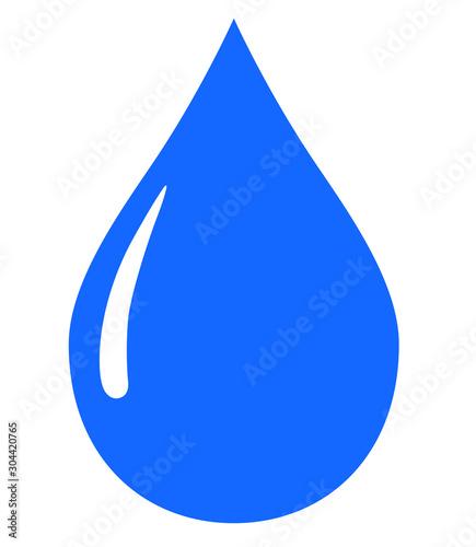 水滴アイコン Fototapet