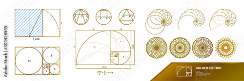 Foto Golden ratio for creative design vector illustration.
