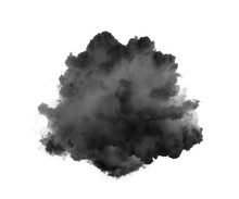 Black Smoke  Isolated On White...