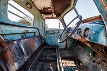 Old Cars Abandoned In Solitaire, Namibia, Africa