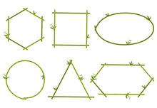Collection Of Green Bamboo Bor...